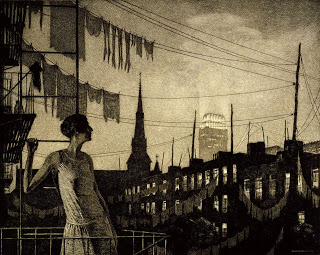 Martin Lewis - Glow of the city, 1929